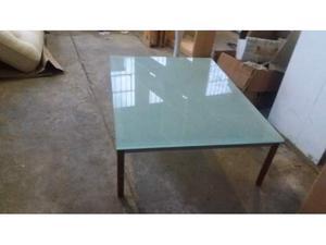 Tavolino sala in vetro satinato