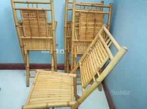 Tavolo + 4 sedie in bambu