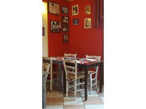 Tavolo vintage in legno con 4 sedie
