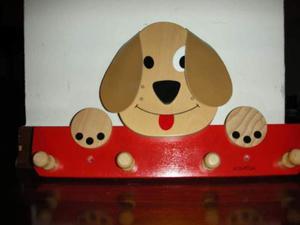 Appendiabiti cagnolino in legno