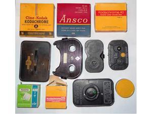 Lotto film 8mm 16mm 9,5mm - caricatori d'epoca cineprese