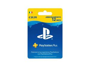 Abbonamento 12 mesi playstation plus ps4