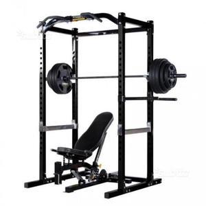 Powertec rack con panca, pesi e bilanciere