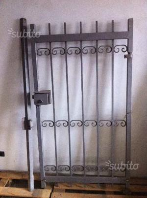 Cancello pedonale in ferro battuto (cancelletto)