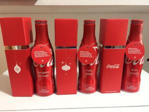 Coca Cola 3 bottiglie alluminio + box xmas Brasile