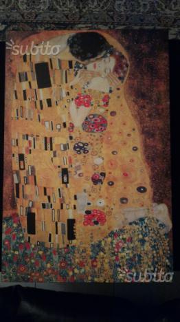 Il bacio di Klimt su legno