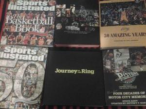 Libri NBA da collezione (Lakers, Pistons, Blazers)