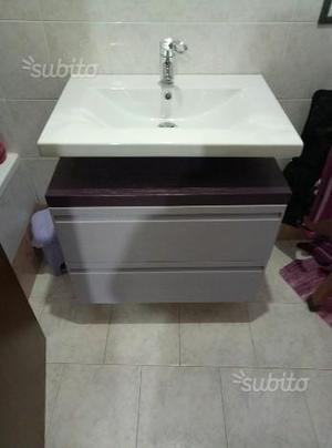 Mobiletto copricolonna lavabo per bagno posot class for Vendo mobile bagno