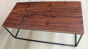 Piana tavolino in legno rovere di palude