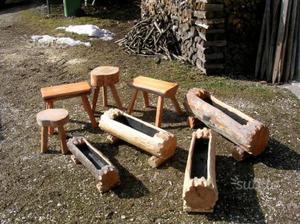 Carriola in legno portafiori posot class for Portafiori in legno