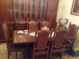 Tavolo antico sala pranzo francese legno 90x90cm posot class - Sala da pranzo in francese ...