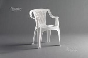 Sedia bianca da esterno/giardino