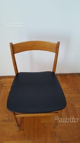 Sedie legno/pelle