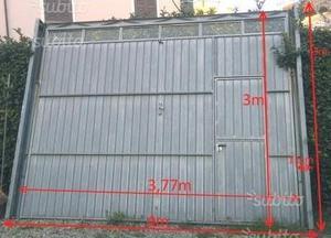 Portone basculante per garage posot class for Portone garage usato