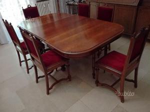 Vendo tavolo da pranzo stile inglese con sedie posot class - Camera da pranzo in inglese ...