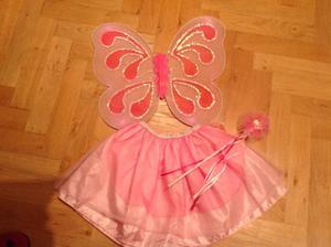 Vestito Carnevale FATINA- FARFALLINA ROSA bambina 2-4 anni