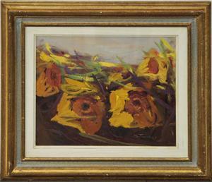 Bruno Tinucci pittore olio su tela fiori