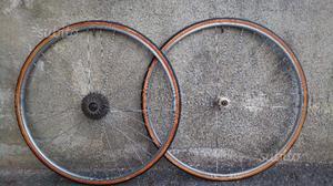 Coppia ruote bici corsa vintage