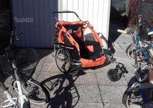 Rimorchio bici bambino trolley