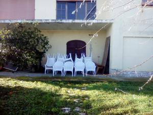 40 sedie legno bianche paglia vienna, buono stato
