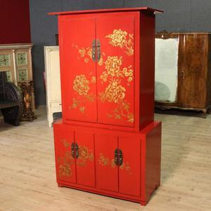 Credenza cinese in legno laccato a cineseria