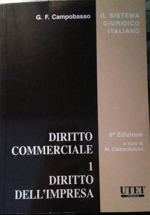 Diritto Commerciale Vol 1, Diritto Dell'Impresa.