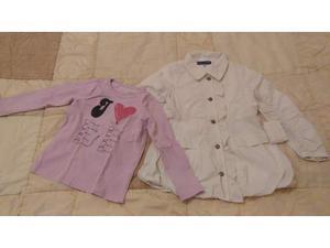 Giacca e maglietta da bimba di 5 anni, usati
