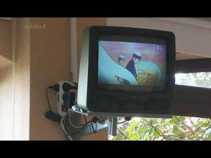 """TV 14"""" con decoder DDT e supporto"""