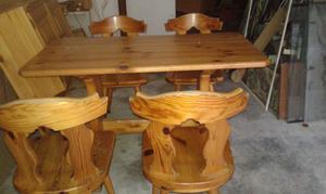 Tavolo + n. 4 sedie in legno massello di pino