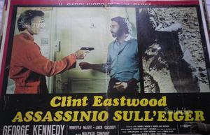 6 fotobuste assassinio eiger alpinismo eastwood
