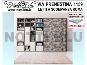Letti a Scomparsa _ Letto Matrimoniale SE387 Materasso