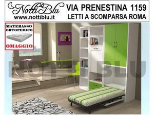 Letti a Scomparsa _ Letto Singolo SE395 Materasso Omaggio
