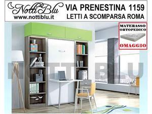 Letti a Scomparsa _ Letto Singolo SE398 Materasso Omaggio