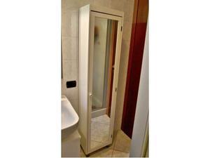 Armadio liberty con specchio posot class for Armadio bagno bianco