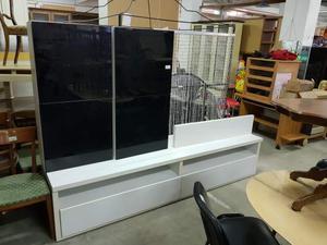 Mobile soggiorno bianco/nero