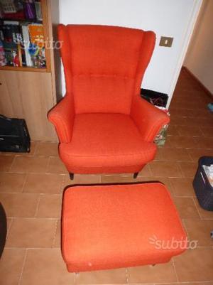 Sedia a dondolo poltrona ikea con poggiapiedi posot class for Sedia a dondolo con poggiapiedi