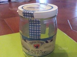 Vasetti iogurt di vetro con tappo di plastica