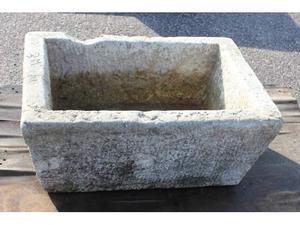 Vecchia vasca pietra 73x50 h31 n.3m lavandino fioriera marmo