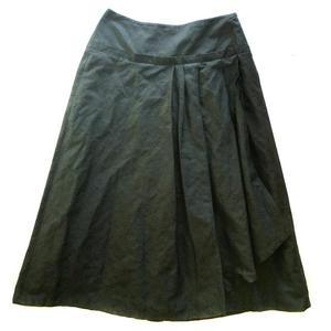 brown metallic midi skirt