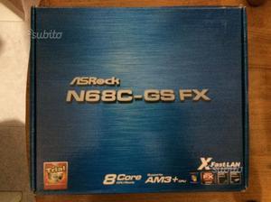 ASrock scheda madre AM3+ con cpu e 1,5GB ram