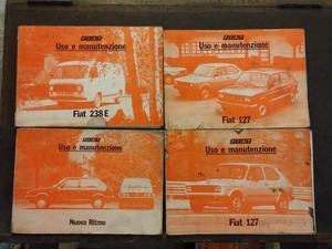 Libretti uso e manutenzione Alfa Fiat Lancia