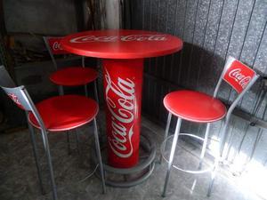 Tavolo Con Sgabelli Coca Cola.Tavolo Coca Cola Piu Tre Sedie Posot Class