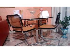 Tavolo in cristallo con 4 sedie