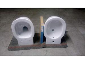 Vaso con sedile rall + Bidet sospeso Connect