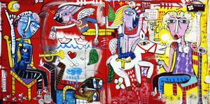 dipinto moderno olio su tela arredamento casa