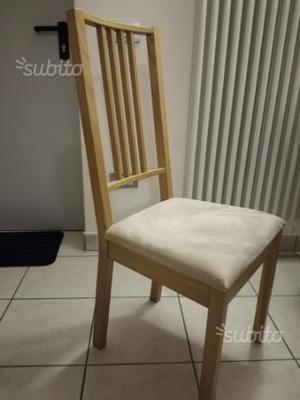 Vendo 4 sedie ikea borje milano posot class - Sedie impagliate ikea ...