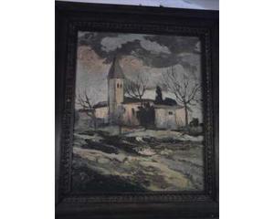 Coppia quadri antichi,pittura ad olio,paesaggi