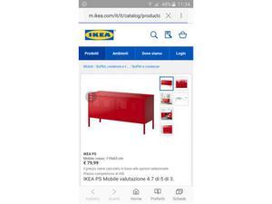 Mobile IKEA PS in metallo rosso