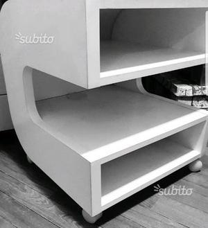 Mobile bagno stondato cm 90 bianco opaco posot class - Mensole porta tv ikea ...