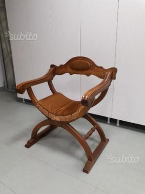 Sedia savonarola in legno massello posot class for Savonarola sedia